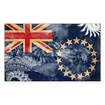 Cook Islands Flag Sticker (Rectangle 50 pk)