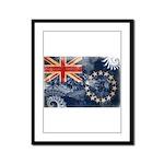 Cook Islands Flag Framed Panel Print