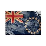 Cook Islands Flag Rectangle Magnet (10 pack)