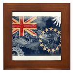 Cook Islands Flag Framed Tile