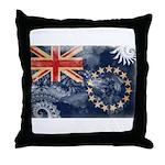 Cook Islands Flag Throw Pillow