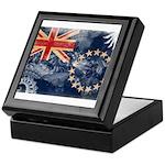 Cook Islands Flag Keepsake Box