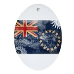 Cook Islands Flag Ornament (Oval)