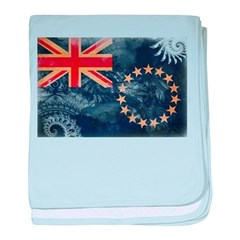 Cook Islands Flag baby blanket