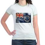 Cook Islands Flag Jr. Ringer T-Shirt