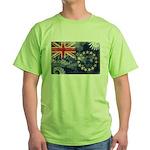 Cook Islands Flag Green T-Shirt
