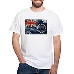 Cook Islands Flag White T-Shirt