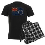 Cook Islands Flag Men's Dark Pajamas