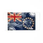 Cook Islands Flag Aluminum License Plate