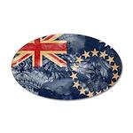 Cook Islands Flag 38.5 x 24.5 Oval Wall Peel