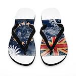 Cook Islands Flag Flip Flops