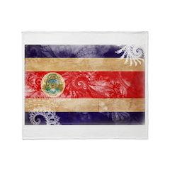 Costa Rica Flag Throw Blanket