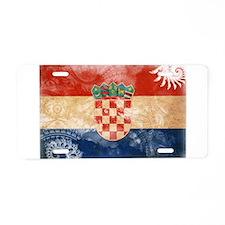 Croatia Flag Aluminum License Plate