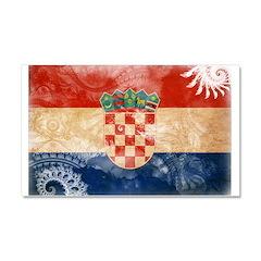 Croatia Flag Car Magnet 20 x 12