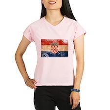 Croatia Flag Performance Dry T-Shirt