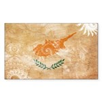 Cyprus Flag Sticker (Rectangle 10 pk)