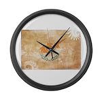 Cyprus Flag Large Wall Clock