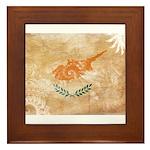 Cyprus Flag Framed Tile