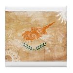 Cyprus Flag Tile Coaster