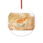 Cyprus Flag Ornament (Round)