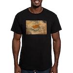 Cyprus Flag Men's Fitted T-Shirt (dark)
