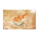 Cyprus Flag 38.5 x 24.5 Wall Peel