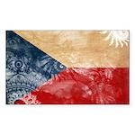 Czech Republic Flag Sticker (Rectangle 10 pk)