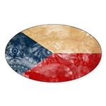Czech Republic Flag Sticker (Oval 50 pk)