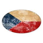 Czech Republic Flag Sticker (Oval)