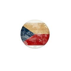 Czech Republic Flag Mini Button (100 pack)