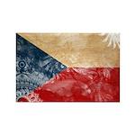 Czech Republic Flag Rectangle Magnet (100 pack)