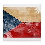 Czech Republic Flag Tile Coaster