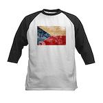 Czech Republic Flag Kids Baseball Jersey