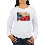 Czech Republic Flag Women's Long Sleeve T-Shirt