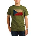Czech Republic Flag Organic Men's T-Shirt (dark)