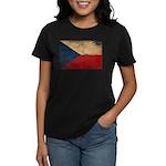 Czech Republic Flag Women's Dark T-Shirt