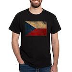 Czech Republic Flag Dark T-Shirt