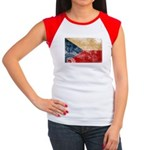 Czech Republic Flag Women's Cap Sleeve T-Shirt