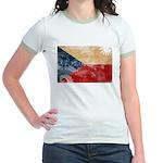 Czech Republic Flag Jr. Ringer T-Shirt