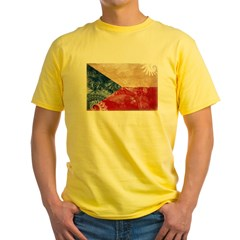 Czech Republic Flag Yellow T-Shirt