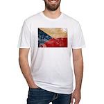 Czech Republic Flag Fitted T-Shirt