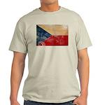 Czech Republic Flag Light T-Shirt