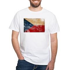 Czech Republic Flag White T-Shirt