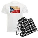 Czech Republic Flag Men's Light Pajamas
