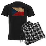 Czech Republic Flag Men's Dark Pajamas
