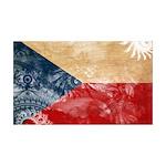 Czech Republic Flag 38.5 x 24.5 Wall Peel