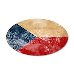 Czech Republic Flag 22x14 Oval Wall Peel