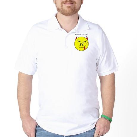 Satanic Smiley Face Golf Shirt