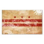 District of Columbia Flag Sticker (Rectangle 10 pk