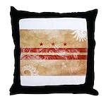District of Columbia Flag Throw Pillow